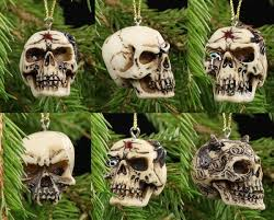 skull tree decorations set of 6 www figuren shop de