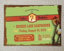 camping birthday invitations camping birthday invitations with