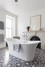 vintage black and white bathroom floor design ideas