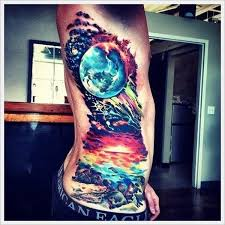 side earth tattoo tattoomagz