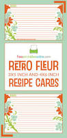 3x5 Index Card Template Word Retro Fleur Recipe Card Template Free Printables Online