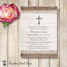 Baptism Invitations Free Printable Christening Rustic Baptism Invitation Christening Invitation Lace And