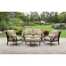 Outdoor Furniture Set Better Homes And Gardens Englewood Heights Ii Aluminum 4 Piece