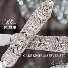 cake knife and server luxurious wedding accessories chagne flutes cake sets