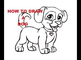 how to draw a dog step by step for kids easy dogs drawing youtube
