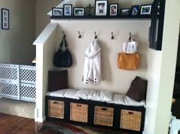 Entryway Bench And Storage Shelf With Hooks Black Entryway Bench With Storage Baskets Small Entryway Bench