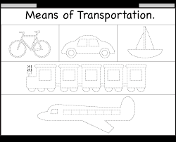 means of transportation u2013 tracing worksheet free printable