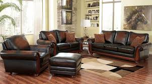 Top Grain Leather Living Room Set by Abbyson Living Top Grain Leather Living Room Set 4 Piece