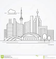 kanada fläche lineare illustration toronto kanada flache linie modische