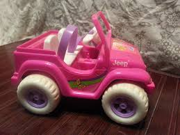 purple barbie jeep ken broccoli and dip