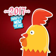 new year sticker new year 2017 of rooster sticker vector 05 vector animal free