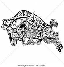zentangle stylized cartoon goat vector u0026 photo bigstock