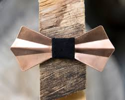 handmade bow copper metal bow tie copper handmade adjustable unique bowtie