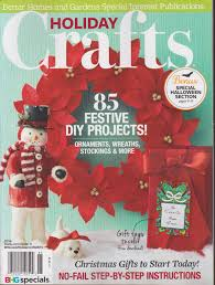 better homes and gardens holiday crafts magazine 2016 amazon com