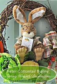 Spring Wreaths For Door by Serendipity Refined Blog Easy Diy Peter Rabbit Spring Wreath Door