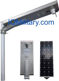 self contained motion detector light solar street light with ip camera