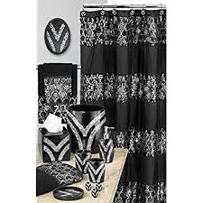Black Bathroom Curtains Lush Decor Sky Shower Curtain 72 Inch By 72