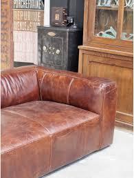 canapé vieilli canapé cuir vieilli