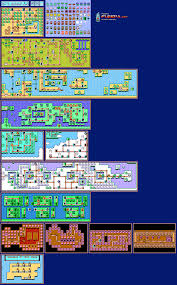 Super Mario World Map by Super Mario Bros 3 Sprite Sheets Nes Mario Universe Com A