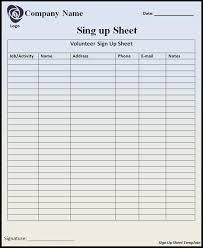 sign up sheet template vnzgames