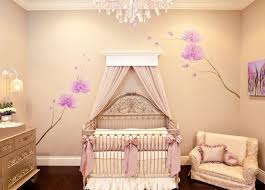 interior light salmon wall with floral motifs and luxury golden