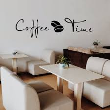 online get cheap large wall stickers time aliexpress com coffee bar decoration wall stickers large coffee time foreign english wall stickers cafe kitchen carved decorative wall stickers