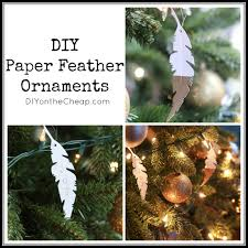 diy paper feather ornaments erin spain
