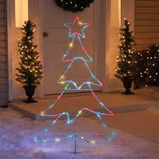 48 led 2d lighted color changing wire tree sculpture american sale