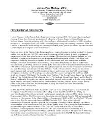 police detective resume markey cv 2015