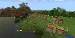 membuat rumah di minecraft 77301621 witch hut village at spawn minecraft pe seeds