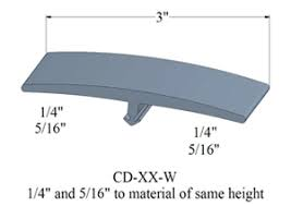 3 inch wide transition molding for 1 4 or 5 16 floor