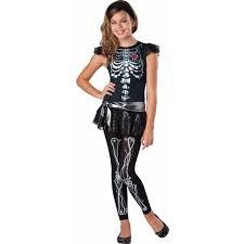Halloween Costumes Skeleton Woman Skeleton Bling Teen Girls U0027 Teen Halloween Costume Walmart Com