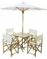Bamboo Patio Set by Amazing Deal On Zew Handcrafted Bamboo 6 Piece Square Patio Set