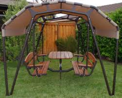 outdoor glider swing with table outdoor patio swing sets patio furniture conversation sets