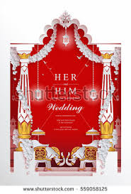 indian wedding invites indian wedding invitation card templates paper stock vector