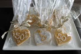50th anniversary favors 50th anniversary cookies what s cooking on planet byn