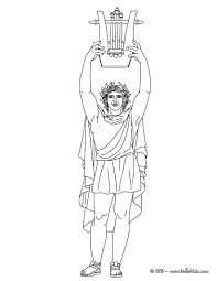 appollo greek goddess u0026 gods coloring page coloring pages of