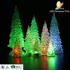 perspex tree lights decoration