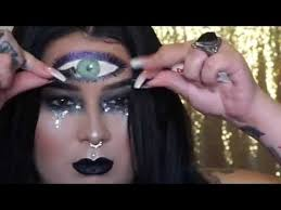 gypsy fortune teller halloween makeup tutorial youtube