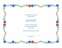 preschool certificates preschool completion certificate free certificate templates in