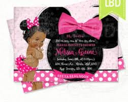 Minnie Mouse Baby Shower Invitations Templates - top 13 minnie mouse baby shower invitations party city for your