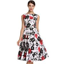 flower dress retro 1950s 1960s rockabilly dress designerluxe