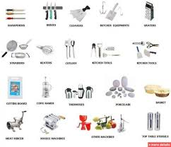 kitchen surprising kitchen utensils names and uses poster