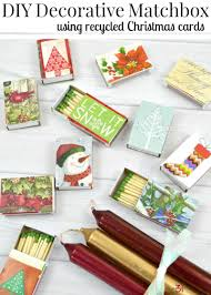 diy decorative matchbox from recycled christmas cards organized 31