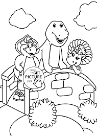 cartoon coloring pages barney and friends coloring pages for kids printable free