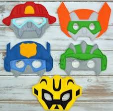 transformer rescue bots party supplies kids mask transformers costume rescue bots party
