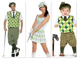 the family that plays together stays together golf costumes