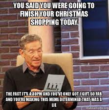 Christmas Shopping Meme - you said you were going to finish your christmas shopping today
