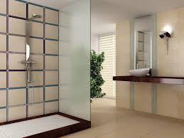 Beige Bathroom Designs by Blue And Beige Bathroom Ideas Brown Concrete Wall And Floor