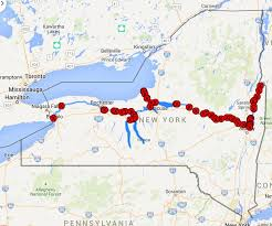 map of the erie canal my kayuta lake cruising the erie canal